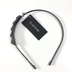 Bebe Jeweled Pyraid Headband